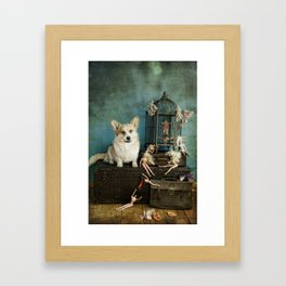 The TJ Hefner Mansion Framed Art Print