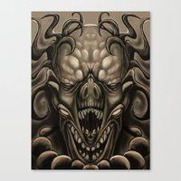 demon Canvas Prints featuring demon by Mr Grin