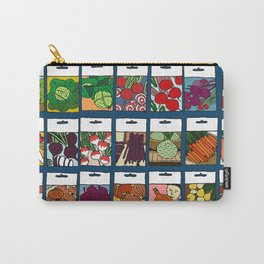 Veggie Seeds Pattern Carry-All Pouch