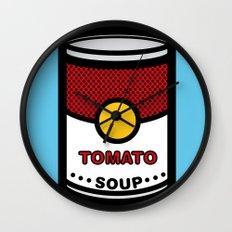 Warhol's Tomato Soup Wall Clock