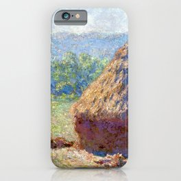 Claude Monet Haystack, End of the Summer iPhone Case