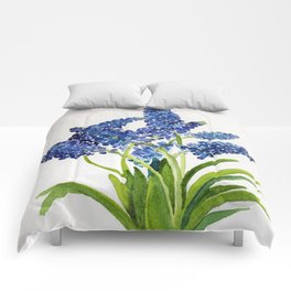 Watercolour Grape Hyacinth Comforters