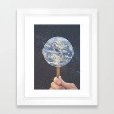 Lollipop Globe Framed Art Print