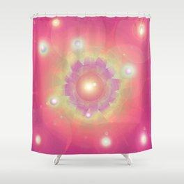 Pink Energy-Light Shower Curtain