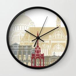 Liege skyline poster Wall Clock