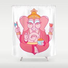 Wise Ganesha Shower Curtain