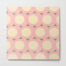 Dots and Triangles Pink  #midcenturymodern Metal Print