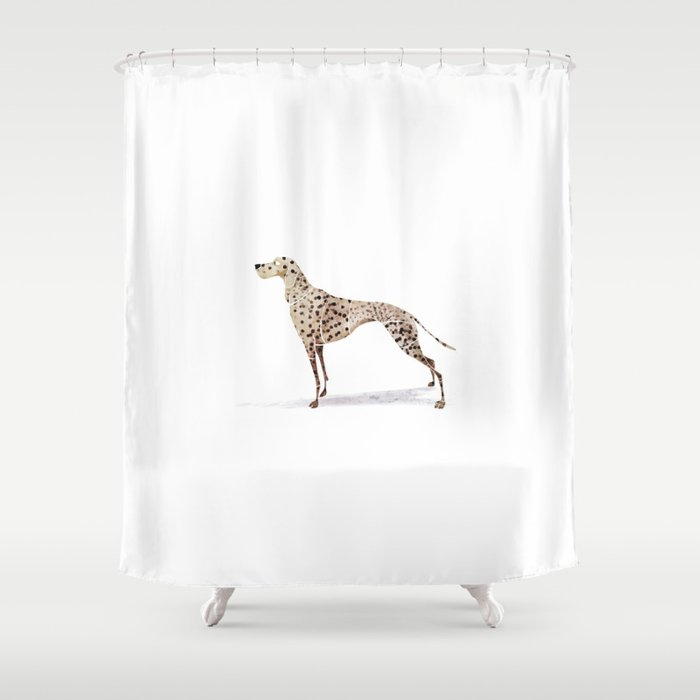 Dalmatian Shower Curtain By Saeiarts