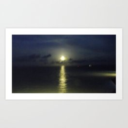 Moon Dancing on Water II Art Print