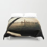 cityscape Duvet Covers featuring Cityscape by sysneye