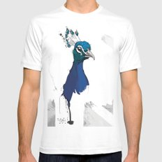 Peacock Head Mens Fitted Tee White SMALL