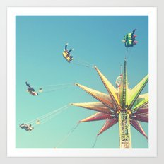 Flying Chairs at the Carnival Art Print