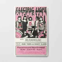 Electric Light Orchestra Concert Poster Re print (474) Metal Print