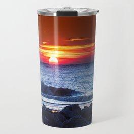 Sunset and a wave Travel Mug