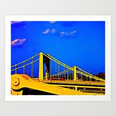 The 3 Sisters Bridges Art Print