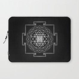 Sri Yantra XI - Black & White Laptop Sleeve