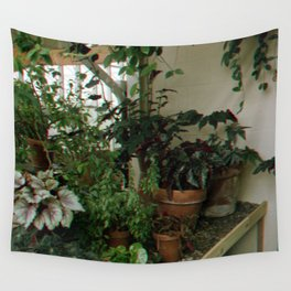 Over Grown Table Wall Tapestry