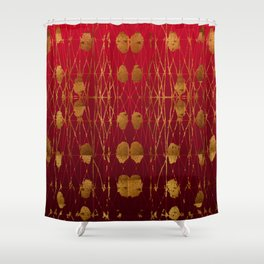 Kelp Forest Red Shower Curtain