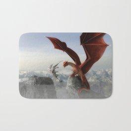 Dragon Fight Bath Mat