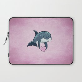 Love Ya! ~ Baby Dolphin by Amber Marine ~ Pink ~ (Copyright 2014) Laptop Sleeve