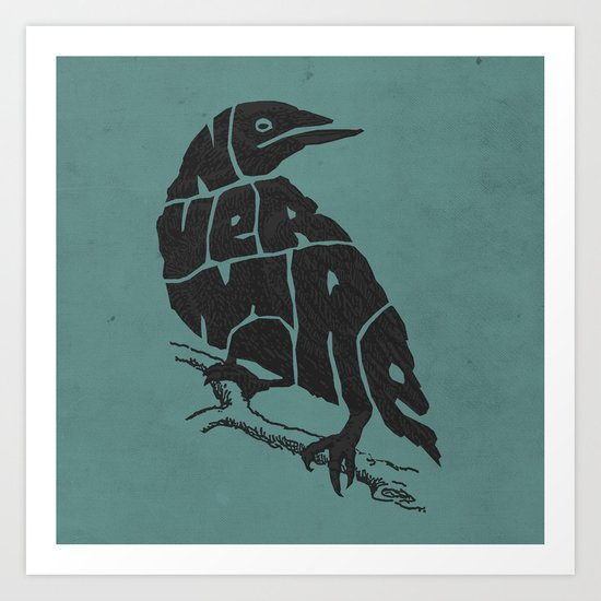 Quoth the raven Art Print