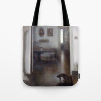 shadow Tote Bags featuring Shadow by Aurelia Burnham