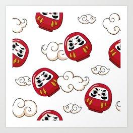 Cute Daruma Pattern Art Print