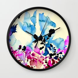 Watercolor floral painting Wall Clock