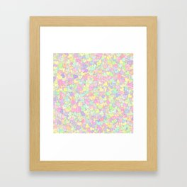Cute Pastel Hearts 13 Framed Art Print