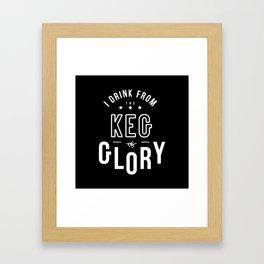 Keg of Glory Framed Art Print