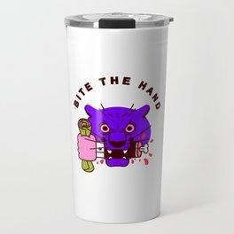 Bite the Hand Travel Mug