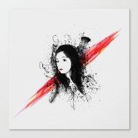 melissa smith Canvas Prints featuring Melissa by Josh Belden