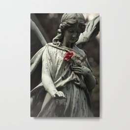 Angel with a rose Metal Print