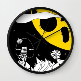 Pija and Moon - Friendship Wall Clock