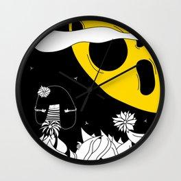 Pija and Moon - Friendship Wall Clock