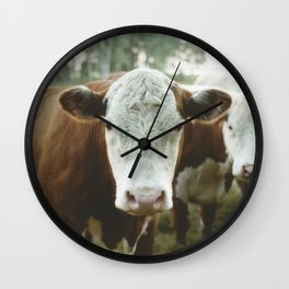 Cow Portrait Wall Clock
