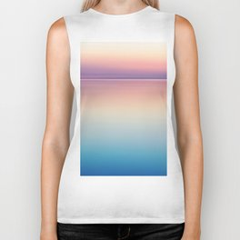 Rainbow Sunset Ocean Biker Tank