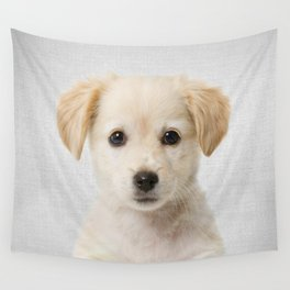 Golden Retriever Puppy - Colorful Wall Tapestry