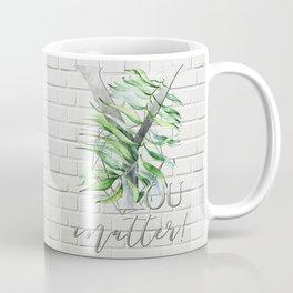 YOU matter! Motivating Quote. silver, bricks Coffee Mug
