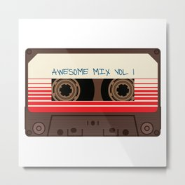 awesome mix vol 1 new hot 2018 CD love cute sticker cover iphone pattern casate art support design Metal Print