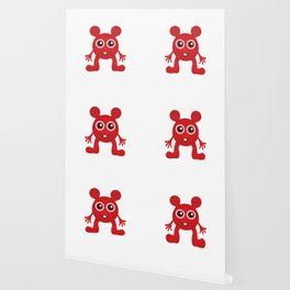 Red Smiley Man Wallpaper