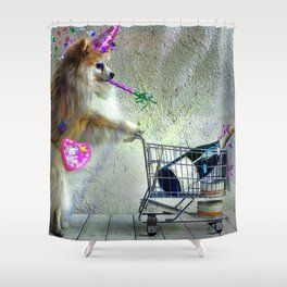 Cute Little Party Animal Shower Curtain