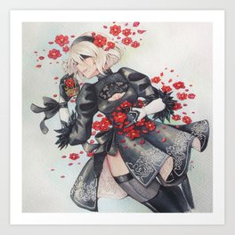 2B [Flowers] Art Print