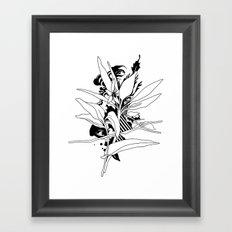 eye & leaf Framed Art Print