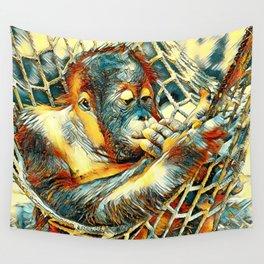 AnimalArt_OrangUtan_20170904_by_JAMColorsSpecial Wall Tapestry