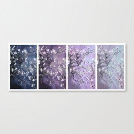 Vincent Van Gogh : Almond Blossoms Panel Art Dark Blue Purple Lavender Canvas Print