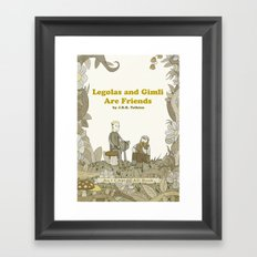 Legolas and Gimli Are Friends Framed Art Print