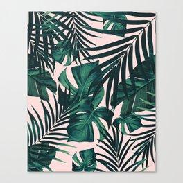 Tropical Jungle Leaves Pattern #5 #tropical #decor #art #society6 Canvas Print