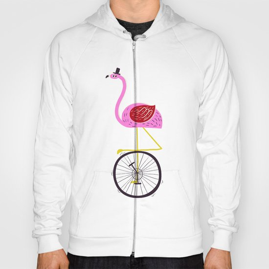 flamingo unicycler Hoody