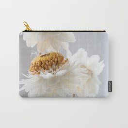 Delicate White & Yellow Flower Carry-All Pouch
